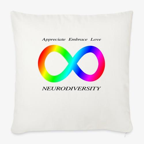 "Embrace Neurodiversity - Throw Pillow Cover 18"" x 18"""