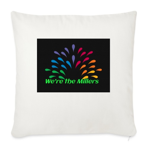 """We're the Millers logo 1 - Throw Pillow Cover 17.5"""" x 17.5"""""""