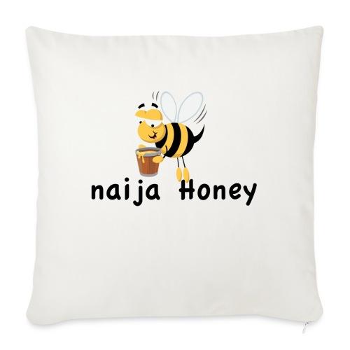 "naija honey... - Throw Pillow Cover 17.5"" x 17.5"""