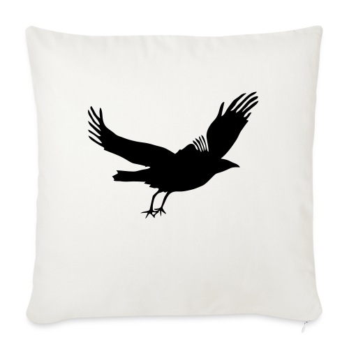 """Crow - Throw Pillow Cover 17.5"""" x 17.5"""""""