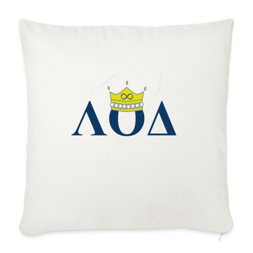 "Crown Letters - Throw Pillow Cover 18"" x 18"""
