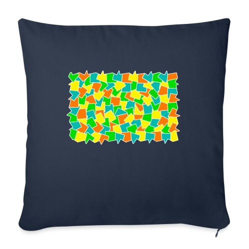 "Dynamic movement - Throw Pillow Cover 18"" x 18"""