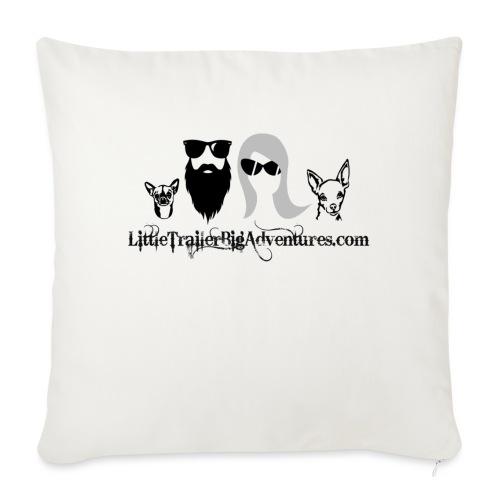 "LTBA Heads Logo - Throw Pillow Cover 18"" x 18"""