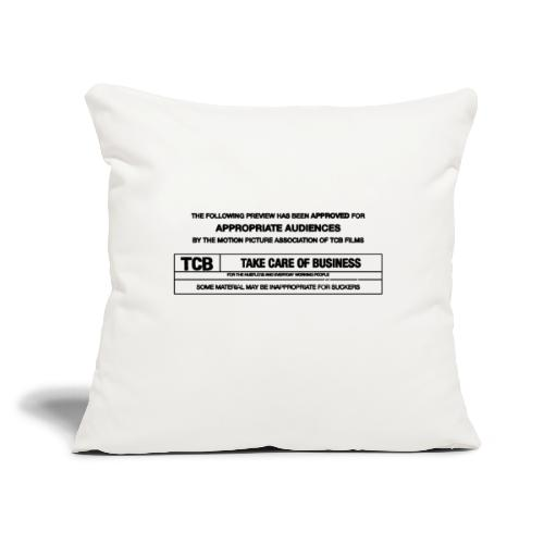"TCB Films Disclamer - Throw Pillow Cover 18"" x 18"""