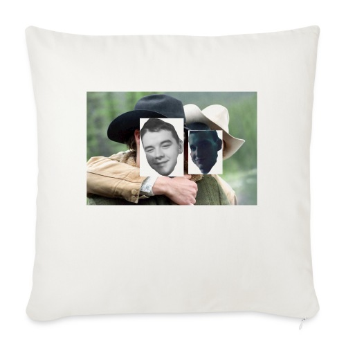 "Darien and Curtis Camping Buddies - Throw Pillow Cover 18"" x 18"""