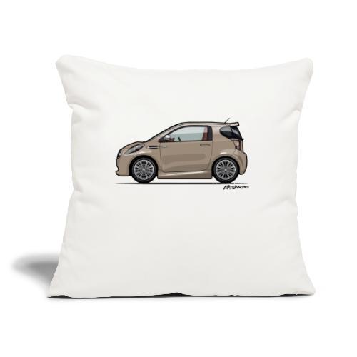 "AM Cygnet Blonde Metallic Micro Car - Throw Pillow Cover 17.5"" x 17.5"""