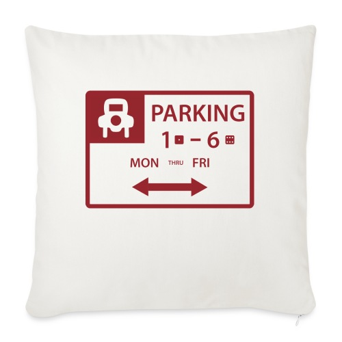 """Free Parking - Throw Pillow Cover 18"""" x 18"""""""