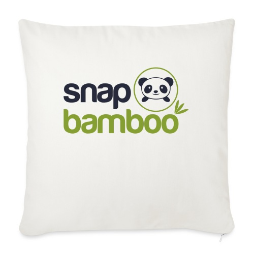 """Snap Bamboo Square Logo Branded - Throw Pillow Cover 18"""" x 18"""""""