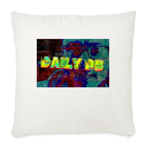 """daily db poster - Throw Pillow Cover 17.5"""" x 17.5"""""""