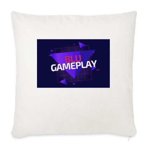 "Retro Blu Gameplay - Throw Pillow Cover 17.5"" x 17.5"""