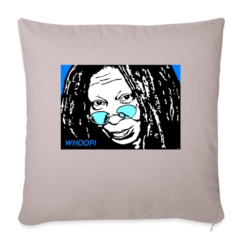 """WHOOPI - Throw Pillow Cover 18"""" x 18"""""""