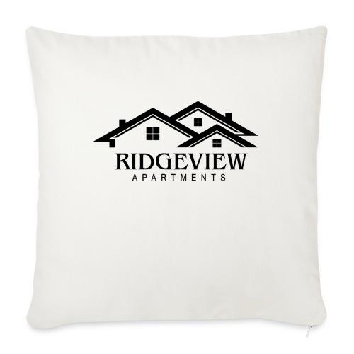 "Ridgeview Apartments - Throw Pillow Cover 18"" x 18"""