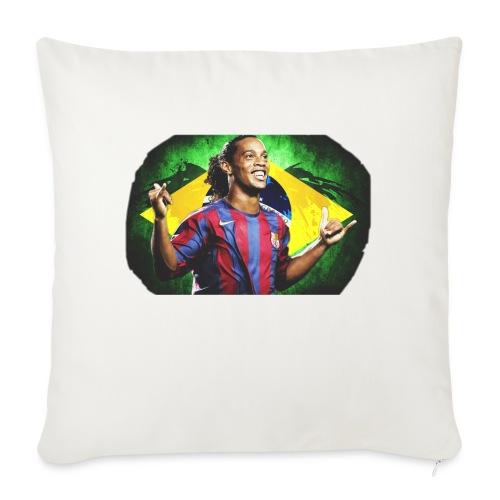 "Ronaldinho Brazil/Barca print - Throw Pillow Cover 17.5"" x 17.5"""