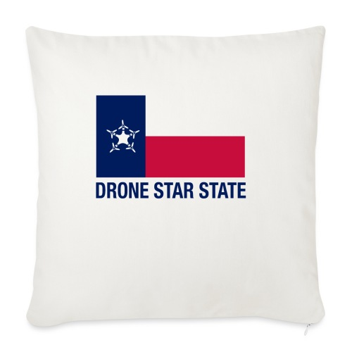 """Drone Star State - Long Sleeve - Throw Pillow Cover 18"""" x 18"""""""