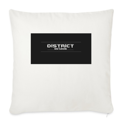 "District apparel - Throw Pillow Cover 18"" x 18"""
