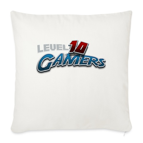 "Level10Gamers Logo - Throw Pillow Cover 17.5"" x 17.5"""