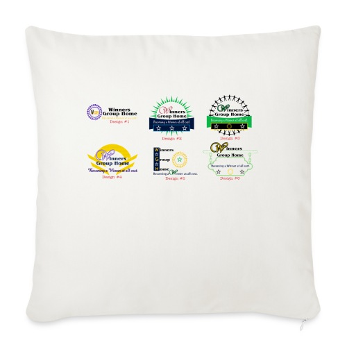 """Winners Group Home - Throw Pillow Cover 18"""" x 18"""""""