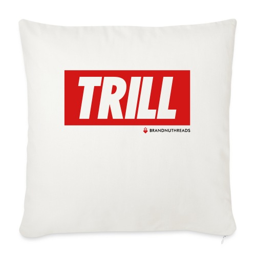 "trill red iphone - Throw Pillow Cover 17.5"" x 17.5"""