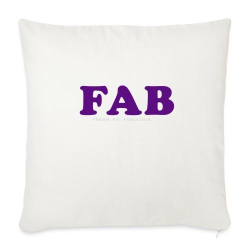 "FAB Tank - Throw Pillow Cover 18"" x 18"""
