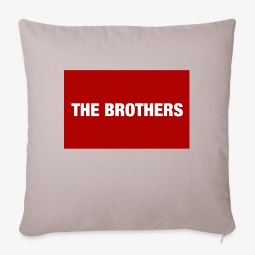 "The Brothers - Throw Pillow Cover 18"" x 18"""