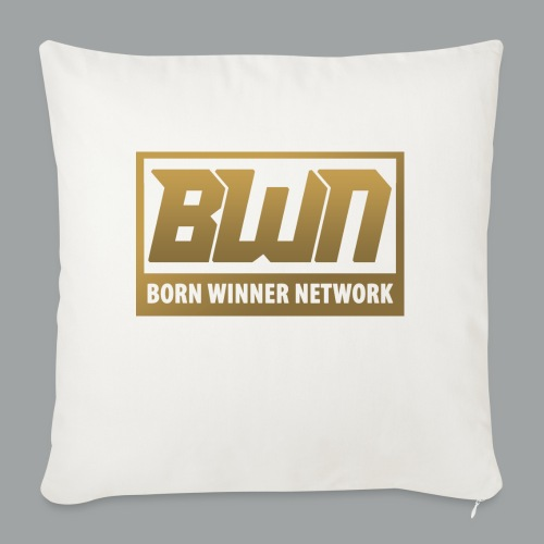"BWN (Gold) - Throw Pillow Cover 18"" x 18"""
