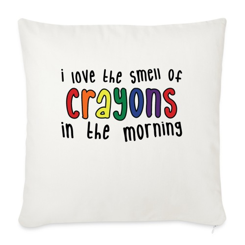 "Crayons light - Throw Pillow Cover 17.5"" x 17.5"""