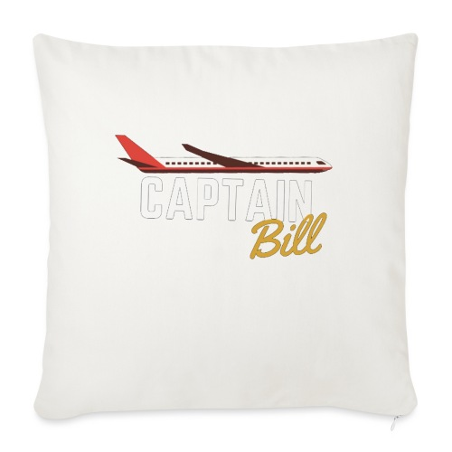 "Captain Bill Avaition products - Throw Pillow Cover 18"" x 18"""