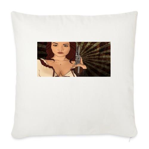 "jjj copy png - Throw Pillow Cover 18"" x 18"""