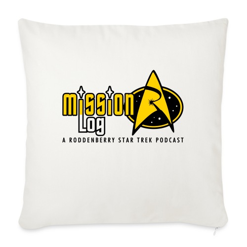 """Logo Wide 2 Color Black Text - Throw Pillow Cover 17.5"""" x 17.5"""""""