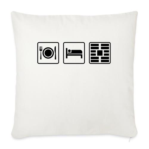 "Eat Sleep Urb big fork - Throw Pillow Cover 17.5"" x 17.5"""