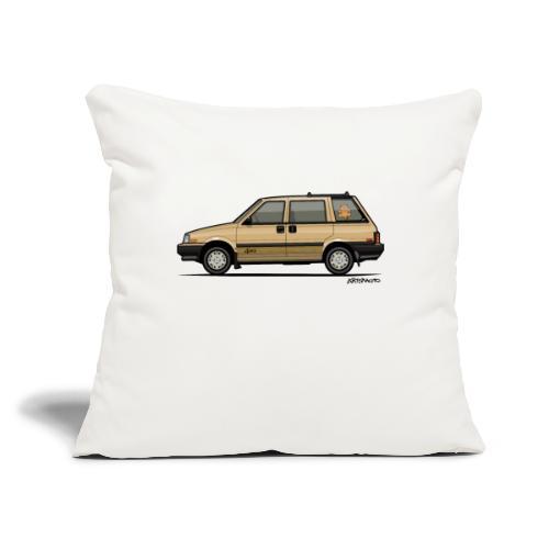 "Nissan Stanza 4wd Multi Wagon Datsun Prairie Gold - Throw Pillow Cover 17.5"" x 17.5"""
