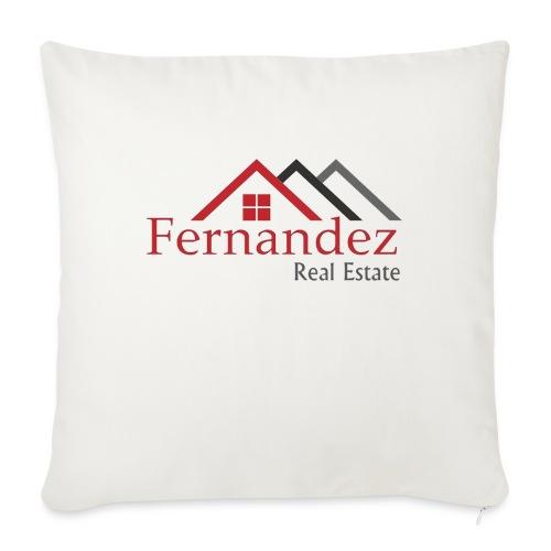 "Fernandez Real Estate - Throw Pillow Cover 18"" x 18"""