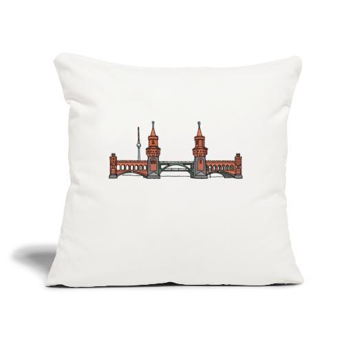 "Oberbaum Bridge Berlin - Throw Pillow Cover 17.5"" x 17.5"""