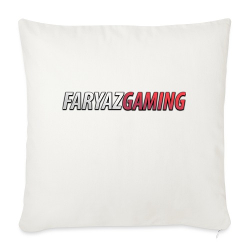 "FaryazGaming Text - Throw Pillow Cover 18"" x 18"""
