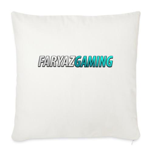 """FaryazGaming Theme Text - Throw Pillow Cover 18"""" x 18"""""""