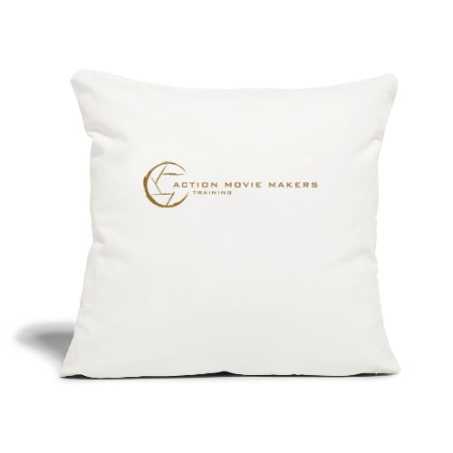"AMMT Logo Modern Look - Throw Pillow Cover 18"" x 18"""
