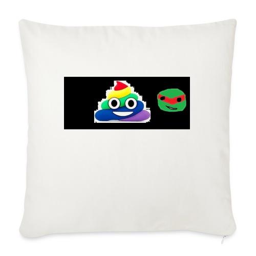 "ninja poop - Throw Pillow Cover 18"" x 18"""