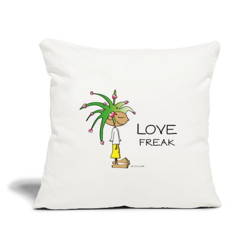 "Love Freak - Throw Pillow Cover 17.5"" x 17.5"""