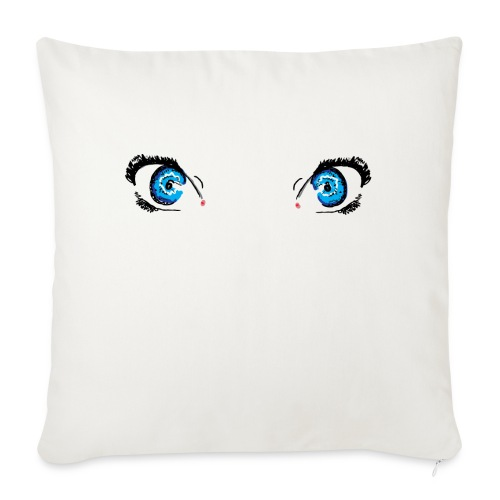 "Glacier Blue Eyes - Throw Pillow Cover 18"" x 18"""