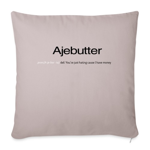 "ajebutter - Throw Pillow Cover 17.5"" x 17.5"""