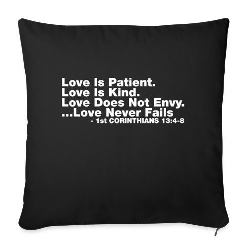 "Love Bible Verse - Throw Pillow Cover 18"" x 18"""