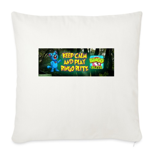 "KDMYBANNER1 - Throw Pillow Cover 18"" x 18"""