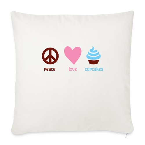 "peacelovecupcakes pixel - Throw Pillow Cover 18"" x 18"""