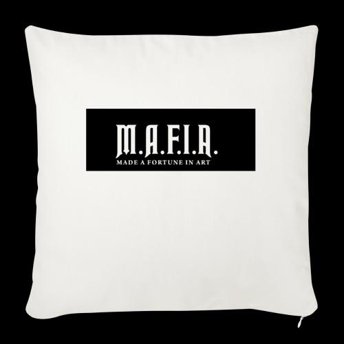 "Classic Mafia Logo Black - Throw Pillow Cover 18"" x 18"""
