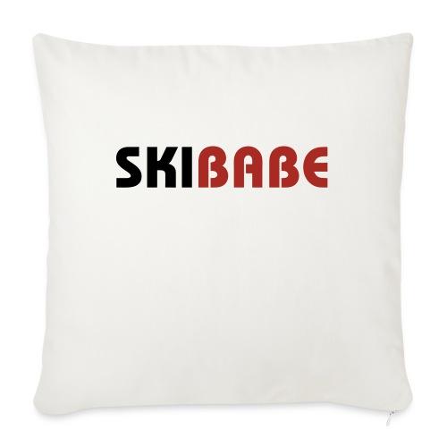 """Ski Babe - Throw Pillow Cover 17.5"""" x 17.5"""""""
