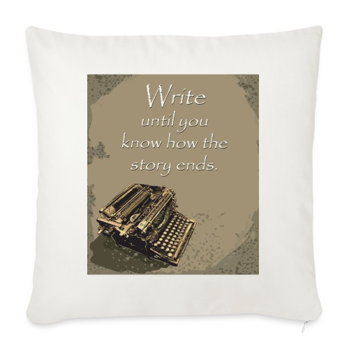 """Writer's Advice - Part 5 - Throw Pillow Cover 17.5"""" x 17.5"""""""