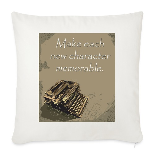 """Writer's Advice - Part 7 - Throw Pillow Cover 17.5"""" x 17.5"""""""