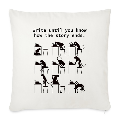 """Write Until You Know - Throw Pillow Cover 17.5"""" x 17.5"""""""
