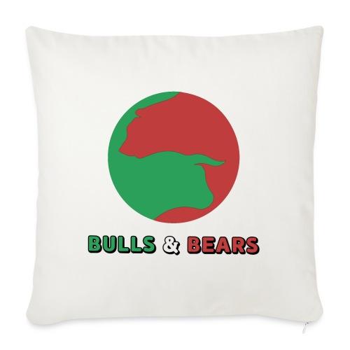 "Bulls & Bears - Throw Pillow Cover 18"" x 18"""