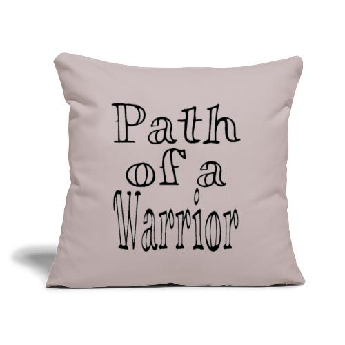 """Path of a Warrior (White) - Throw Pillow Cover 18"""" x 18"""""""